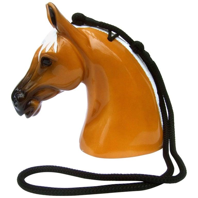Timmy Woods Beverly Hills Artisan Wood Equine Handbag circa 1990s