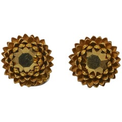 Famous Vintage Signed Miriam Haskell Acorn Earrings