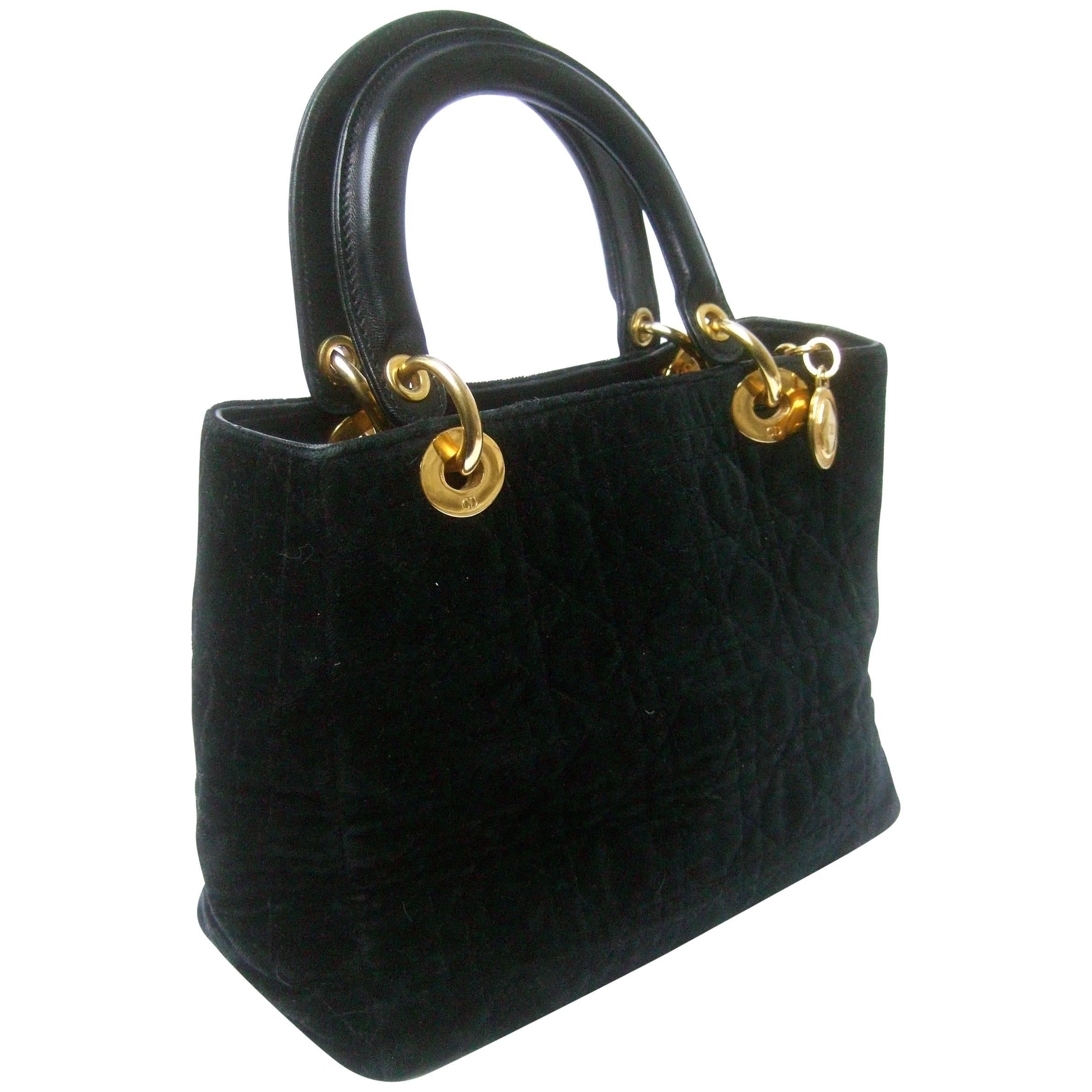 2dd1e186293 Christian Dior Lady Dior Mini Black Nylon Bag With Gold Tone Hardware at  1stdibs