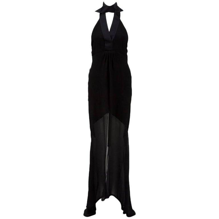 Chanel Ribbons Halterneck Evening Dress