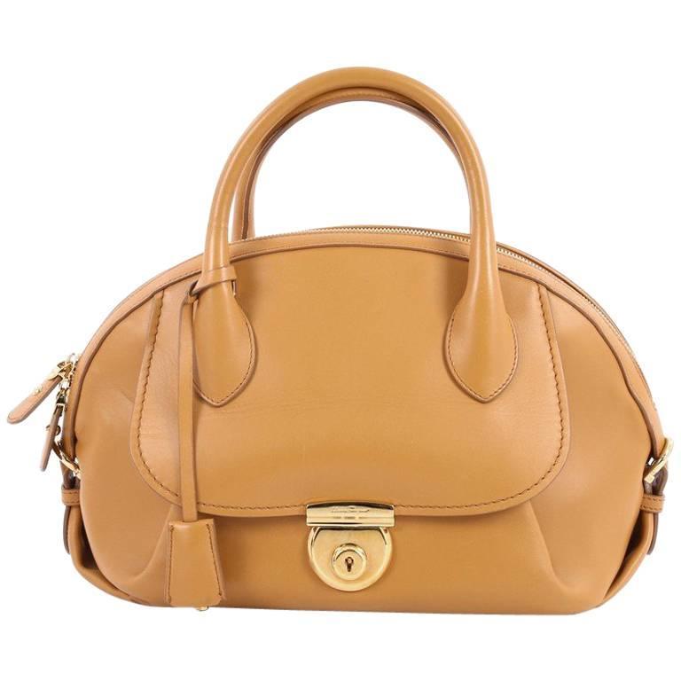 818ca1b1358b Salvatore Ferragamo Fiamma Satchel Leather Medium at 1stdibs