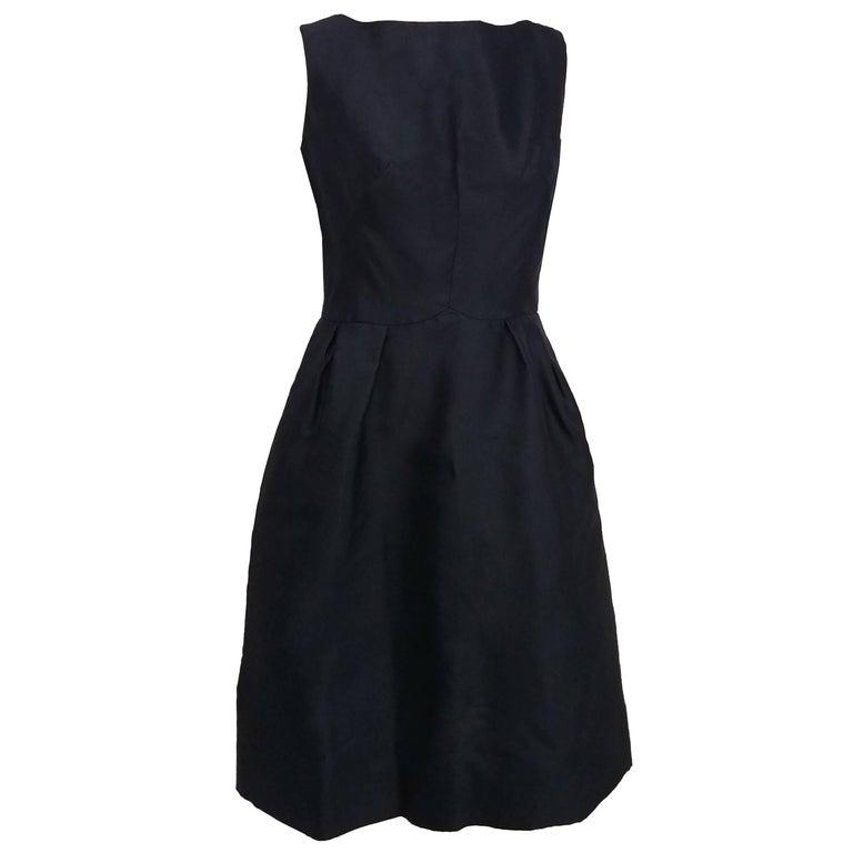 af4605d3734 Hattie Carnegie Black Cocktail Dress