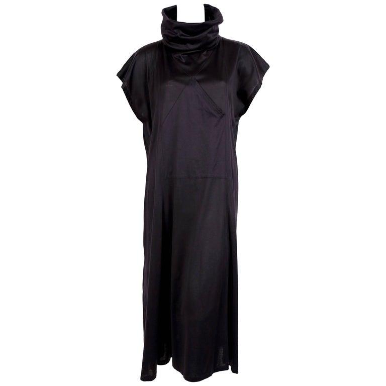 1985 KENZO fine gauge cotton jersey runway dress with pocket