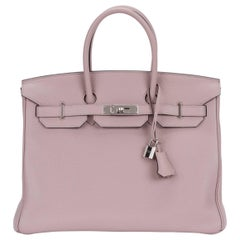 Hermes Birkin 35 CM Glicine Clemence Bag