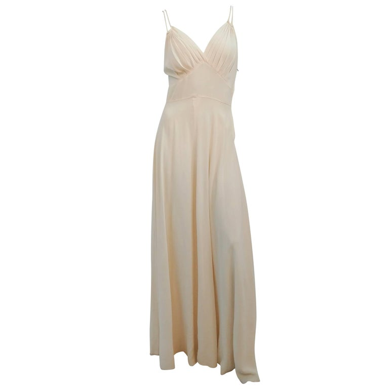 1930s White Double Strap Dress For Sale