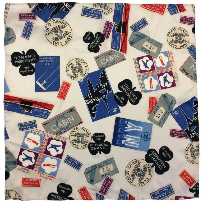 Chanel Print Silk Scarf