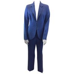 Akris Blue Wool Pant Suit