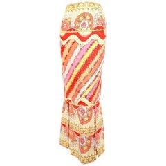 1960'S EMILIO PUCCI printed silk skirt