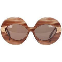 SERGE KIRCHHOFER Vintage 70s Oversized Sunglasses 469 New Old Stock