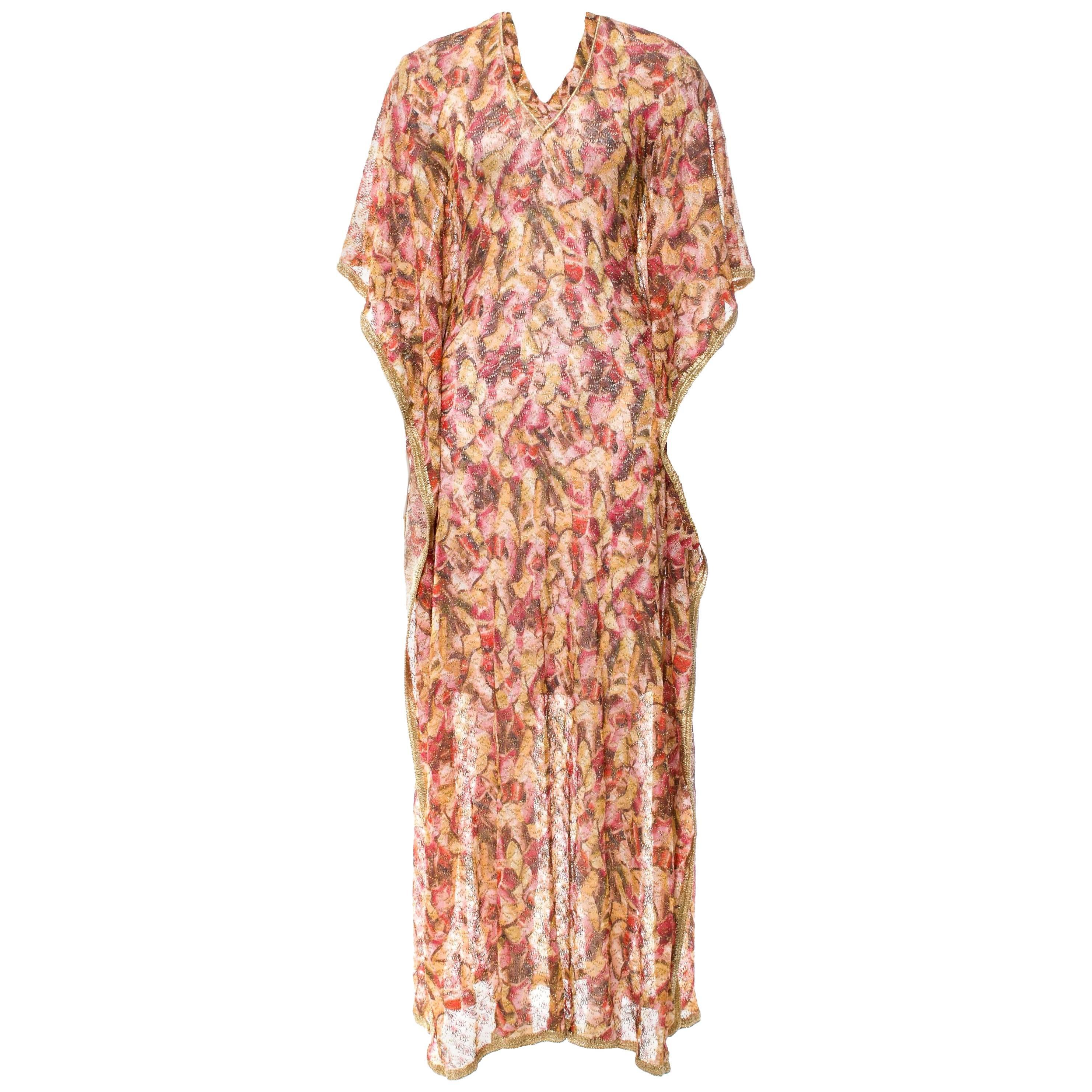 0a6b3f082854 Gorgeous Missoni Golden Lurex Kaftan Maxi Dress For Sale at 1stdibs
