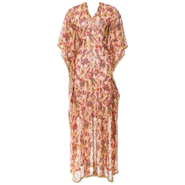 Gorgeous Missoni Golden Lurex Kaftan Maxi Dress