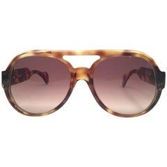 New Vintage Serge Kirchhofer Tortoise  Mod 407 Oversized Sunglasses Austria
