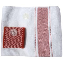 Hermès Set of Sports Towel and Sweatband Tennis Combed Cotton For Woman NIB