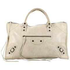 Balenciaga Work Classic Studs Leather Handbag