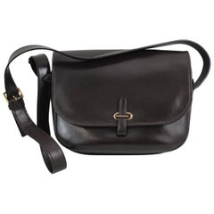 Hermes Vintage Dark Brown Balle de Golf Big Size Shoulder Bag