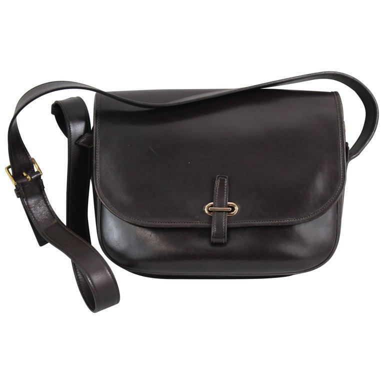 Hermes Vintage Dark Brown Balle de Golf Big Size Shoulder Bag