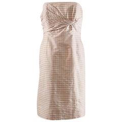 Bill Blass Shantung silk corset summer dress
