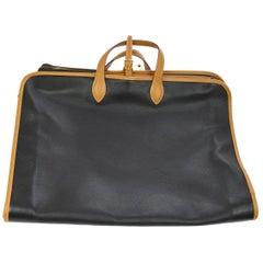 Hermes Black Cognac Leather Men's Women's Carryall Top Handle Travel Tote Bag
