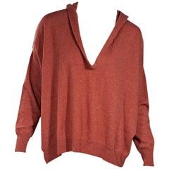 Orange Brunello Cucinelli Cashmere Hooded Sweater