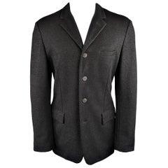 Jean Paul Gaultier Men's Black Metallic Sparkle Rayon Blend 4 Button Sport Coat