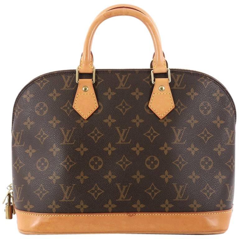 a86a1c08397 Louis Vuitton Vintage Alma Handbag Monogram Canvas PM