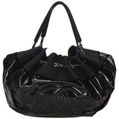 Chanel Black Stretch Spirit Hobo Bag