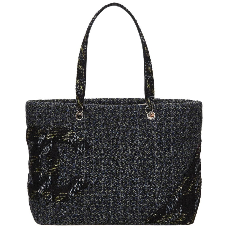 Chanel Black Tweed Cambon Ligne Tote Bag