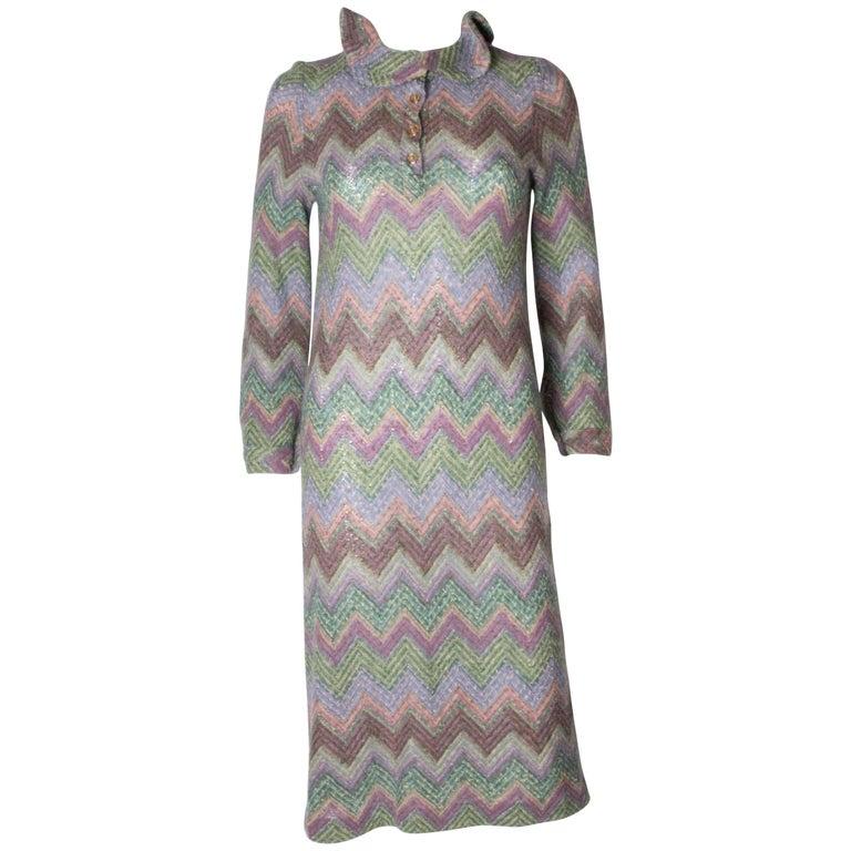 Vintage Missoni Brown Label Knitted Dress 1970s