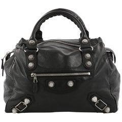 Balenciaga Midday Giant Studs Handbag Leather
