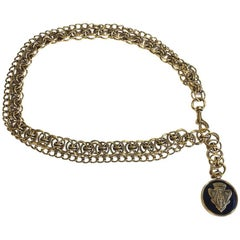 GUCCI Vintage Belt in Two Golden Metal Chains