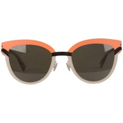 MYKITA STUDIO Mint Sunglasses S8 Tangerine Desert Modules Green Lens