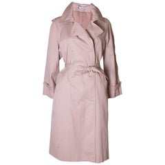 Vintage 1970s Pierre Cardin Pink Trench Coat