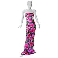 Stunning Balenciaga 2008 Collection by Ghesquiere Iconic Floral Pattern Gown NWT