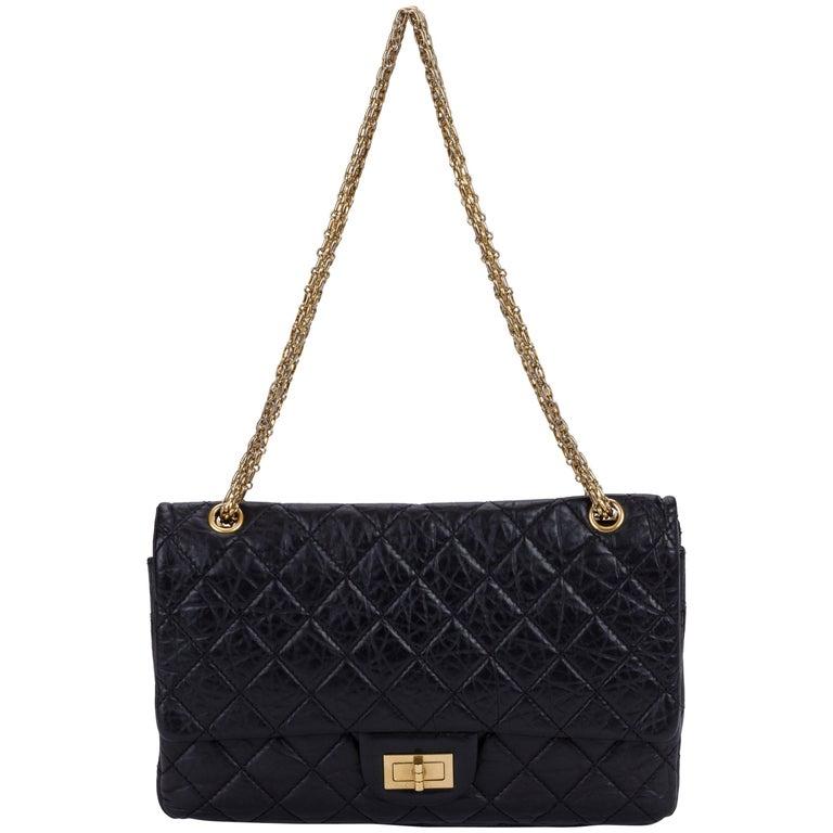 Chanel Black Distressed Reissue Jumbo Bag
