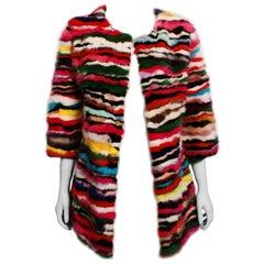 Multi-coloured Mink Fur Jacket
