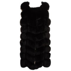 Black Fur Fox Vest