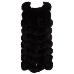 Black Fur Fox Vest