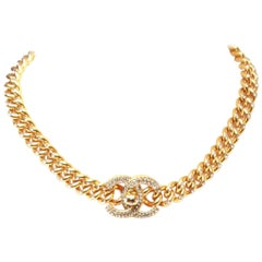 Chanel Gold-Plated Swarovski Encrusted Choker