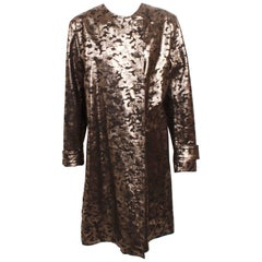 Vintage Leather Metallic Coat