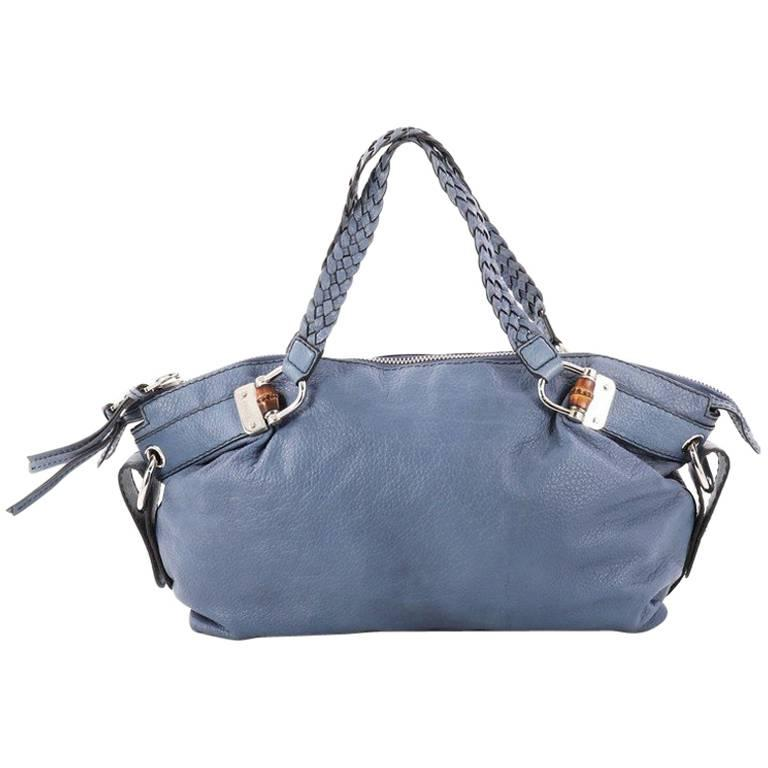 Gucci Bamboo Bar Shoulder Bag Leather Medium