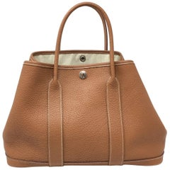 Hermes Garden Party Bag , Gold Togo Leather , 2007