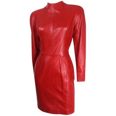 Michael Hoban North Beach Leather Open Back Dress