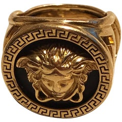 Giani Versace Medusa Gold ring. 1980's