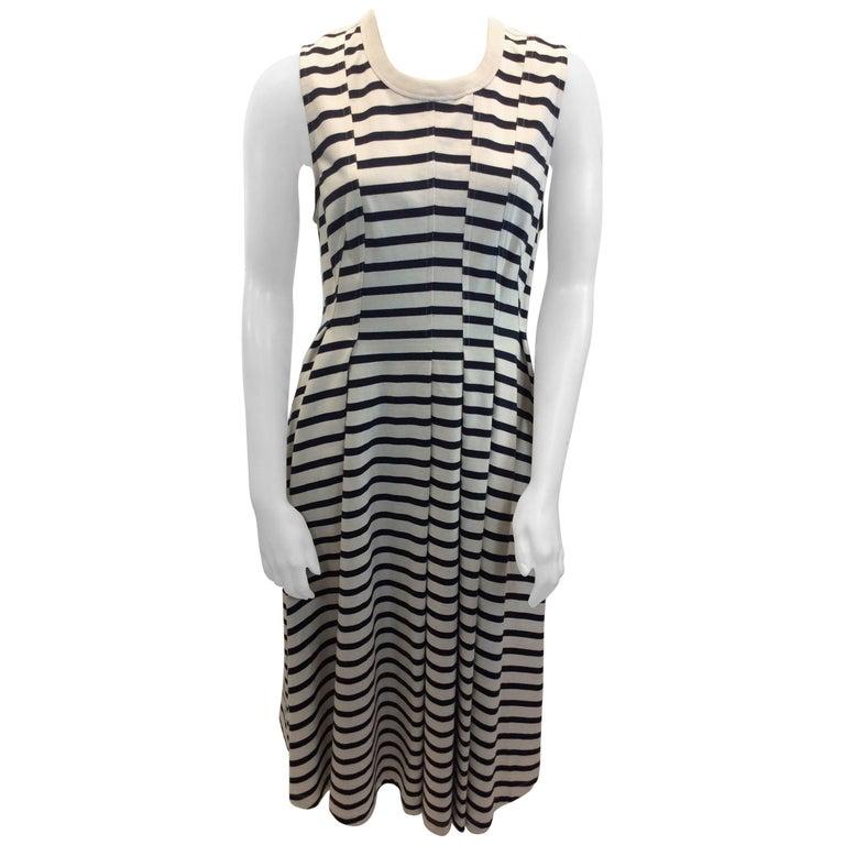 Alexander Wang Navy Blue and White Stripe Dress NWT