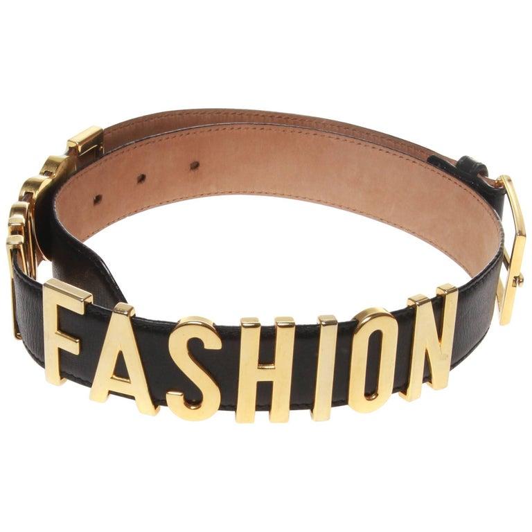 Moschino 'F*CK FASHION' Vintage Belt