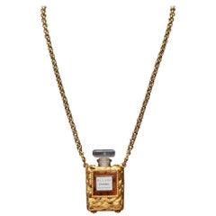 Vintage Chanel 'Allure' Eau De Parfum Mini Perfume Bottle Necklace