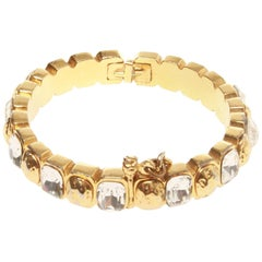 Chanel Crystal Accented Bangle
