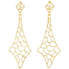 Giulia Barela Gold Plated Bronze Fish Earrings