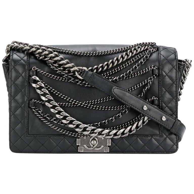 d2268854f97 Chanel Black Quilted Boy Bag at 1stdibs