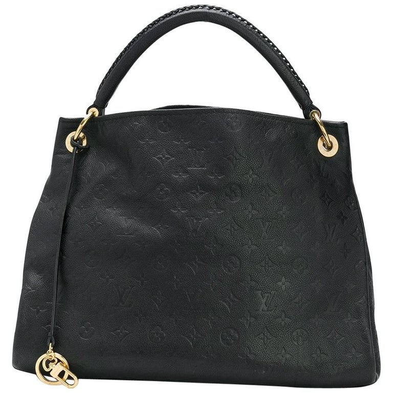 5a95453a9096 Louis Vuitton Black Embossed Monogram Artsy Bag at 1stdibs